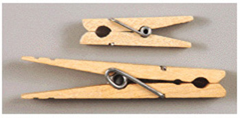 Creativity Street® Large Spring Clothespins Natural