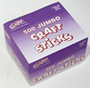 Creativity Street® Jumbo Craft Sticks 500 Pcs Bright Hues