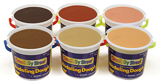 Creativity Street® Multicultural Modeling Dough 6 Tubs Asst