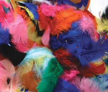 Creativity Street® Feathers Hot Colors