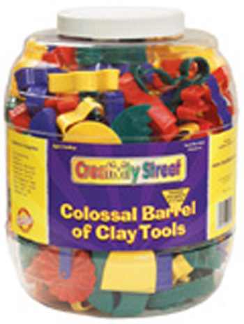 Creativity Street® Colossal Barrel Of Clay Tools 144 Cutters & 5 Tools