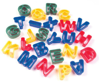 Creativity Street® Capital Letters Dough Cutters 26pcs
