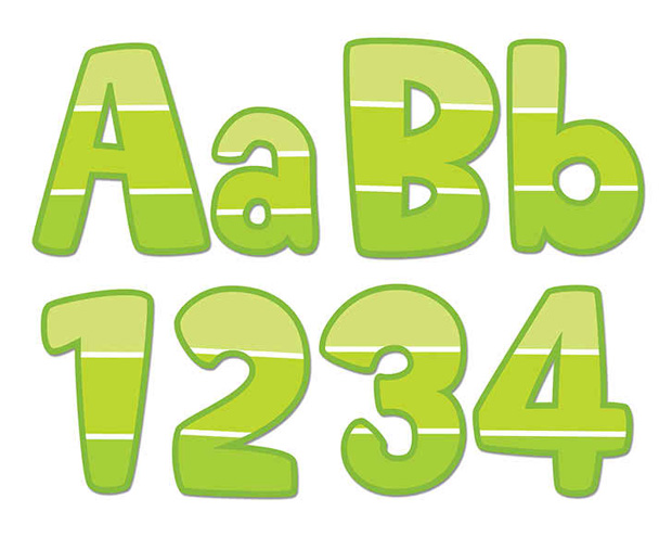 Painted Palette Lime Green 4in Designer Letters
