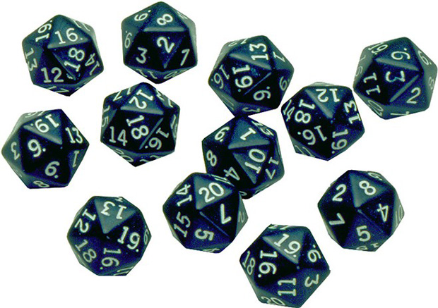 20 Sided Polyhedra Dice Set Of 12