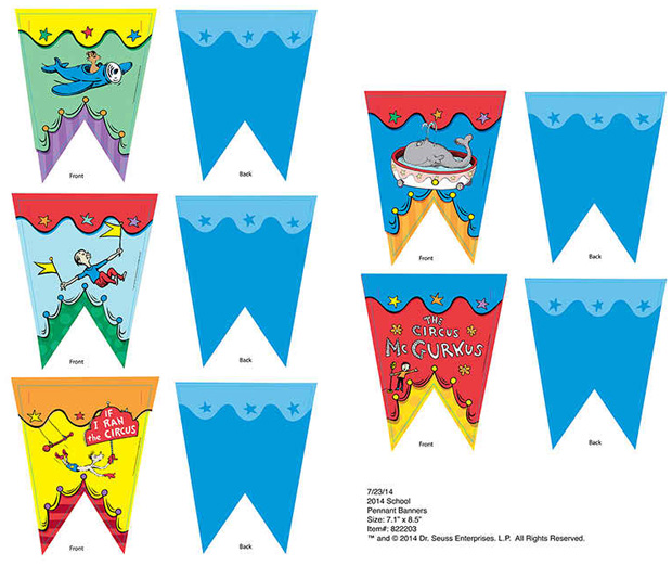Dr Seuss - If I Ran The Circus Pennant Banner