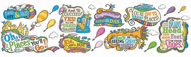 Dr Seuss Oh The Places You Will Go Bb Set