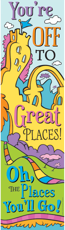 Dr Seuss Oh The Places Vertical Banner
