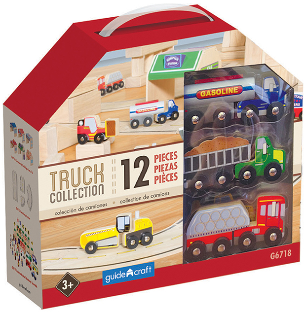 Wooden Truck Collection Set Of 12