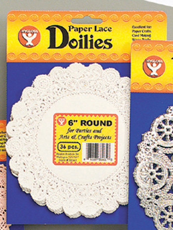 Hygloss Products Inc. Doilies 8 White Round 100/pk