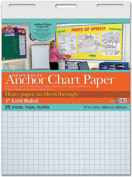 Heavy Duty Anchor 27x34 1in Grid Ruled Chart Paper