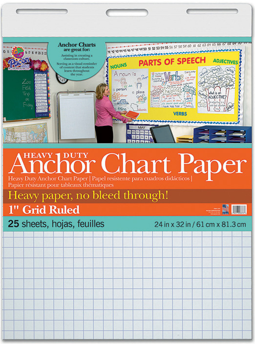 Heavy Duty Anchor 24x32 1in Grid Ruled Chart Paper