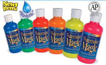 Sargent Art Sargent Art Fluorescent 6 Color Washable Watercolor Magic Assortment