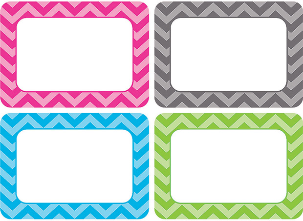 Chevron Name Tags - Multi Pack