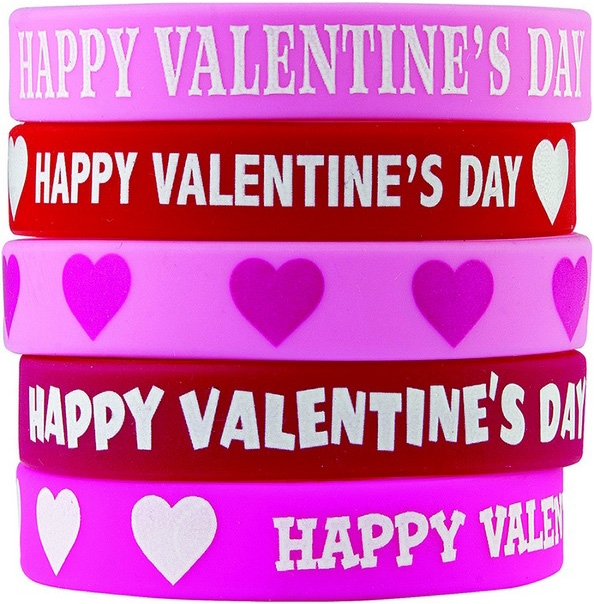 Happy Valentines Day Wristbands
