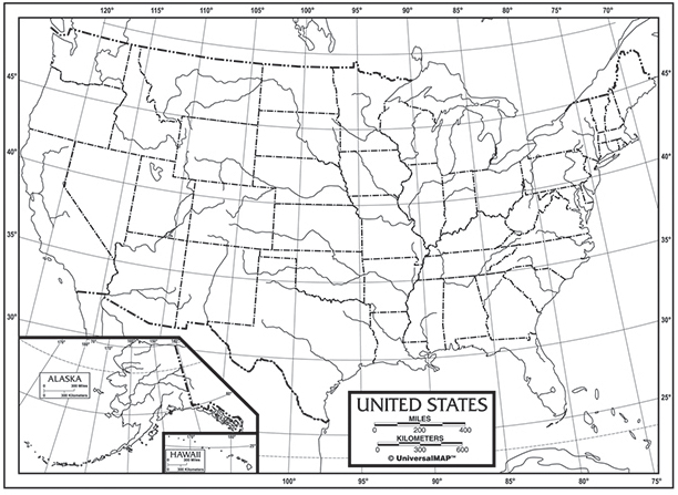 Us Outline Maps Paper