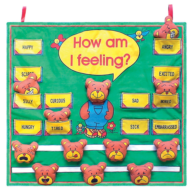 Classroom Wall Decoration With Charts : Get ready kids manipulative feelings wall chart pocket