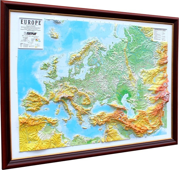 Europe Basic Map with Hangers: 3D Maps With Panoramic Effect on map mirror, map skirt, map accessories, map of downtown denver rtd, map bag, map scrapbook, map chair, map hwy 224 clackamas 32nd, map plastic,