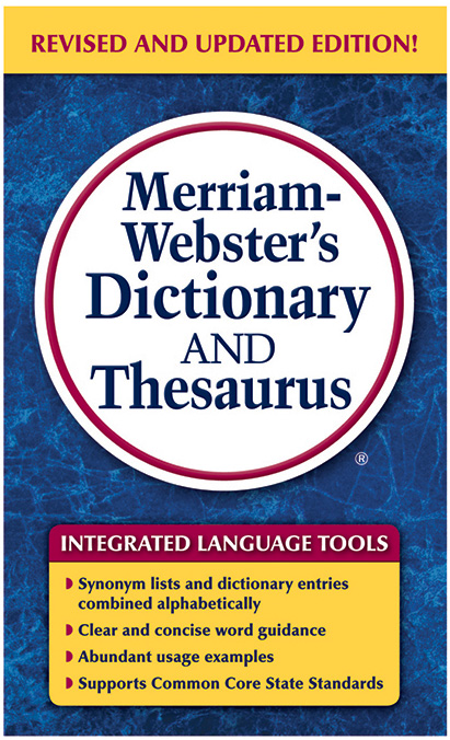Merriam Webster Dictionary & Thesaurus Paperback