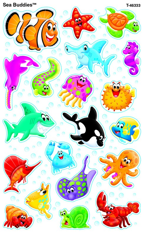 Sea Buddies Supershapes Stickers Large