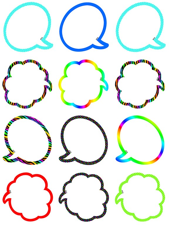 Speech Thought Bubbles Mini Accents