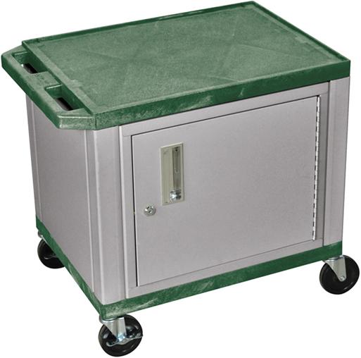 Luxor Kitchen Cabinets: Luxor Tuffy AV Cart 2 Shelves Nickel Legs With Cabinet