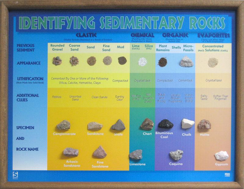Scott Resources Hubbard Scientific Identifying Sedimentary Rocks Chart