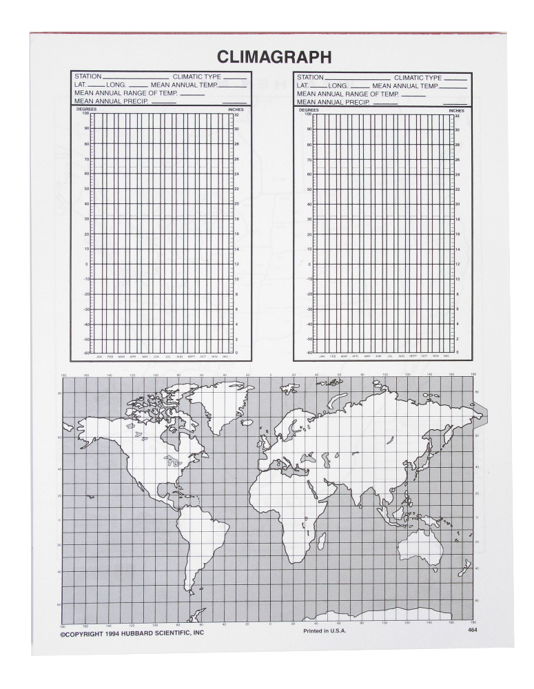 Scott Resources & Hubbard Scientific Weather/Climagraph Chart: Notebook Pad, 50 sheets