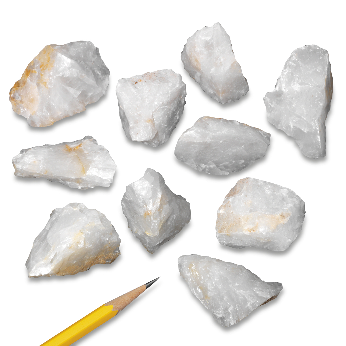 Mineral Quartz Milky: Pack of 10