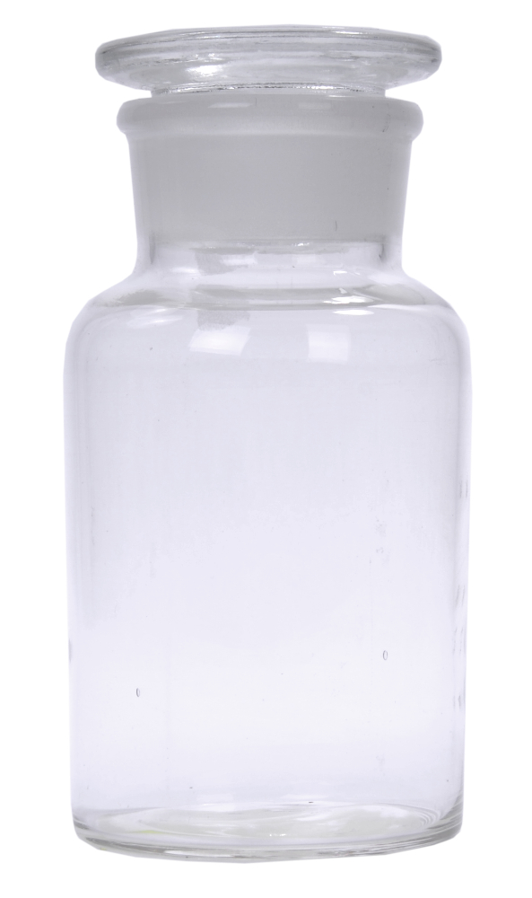 Flint Wide Mouth Reagent Bottles: Ground Glass Stopper, 125 ml