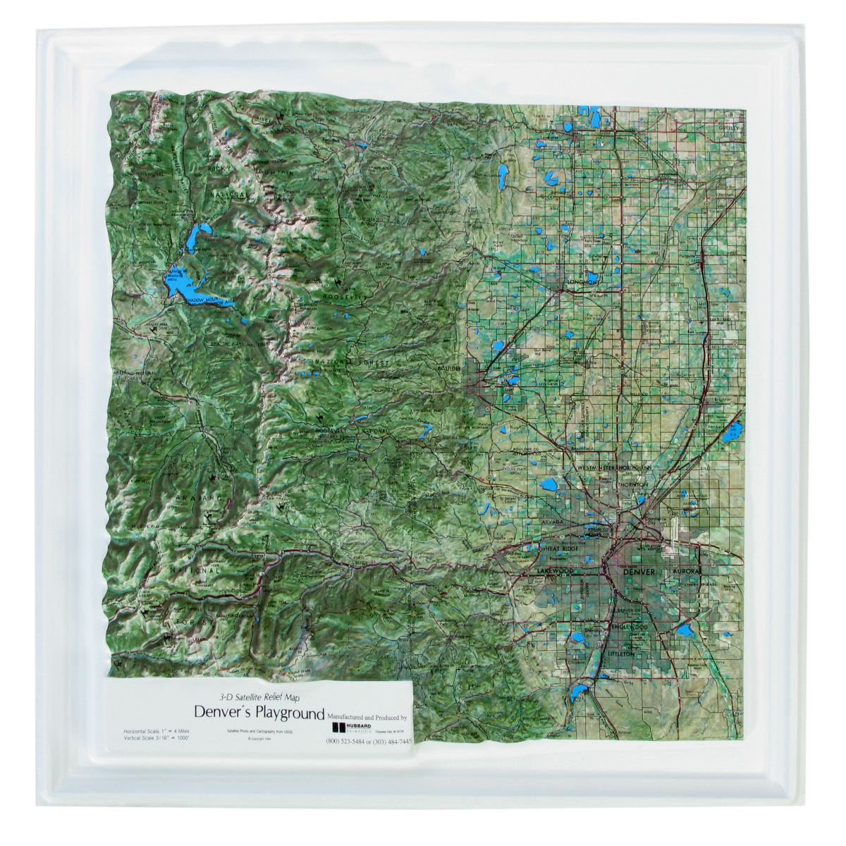 American Education Raised Relief Map Denvers Playground - Raised relief map