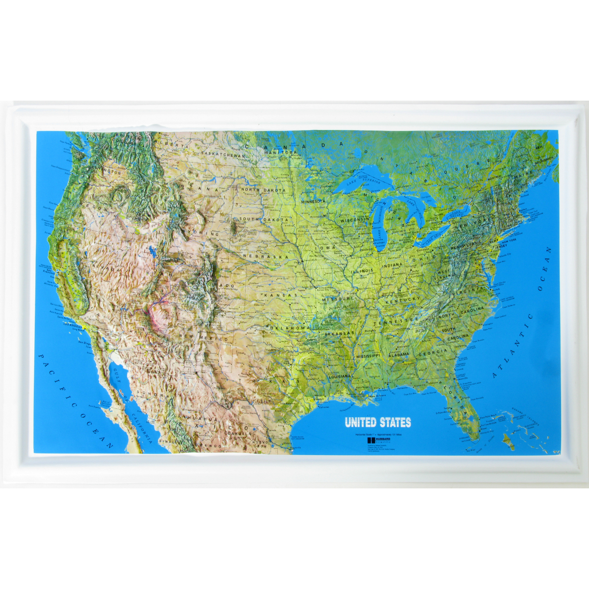 American Education Raised Relief Map US NCR Series Mainland - Relief map us