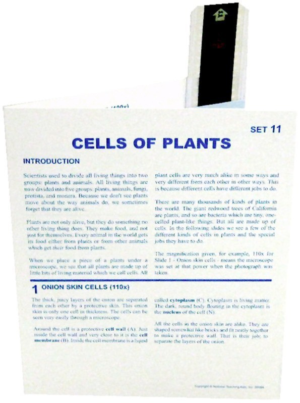 Microslide Cells Of Plants: Set of 15 with Box
