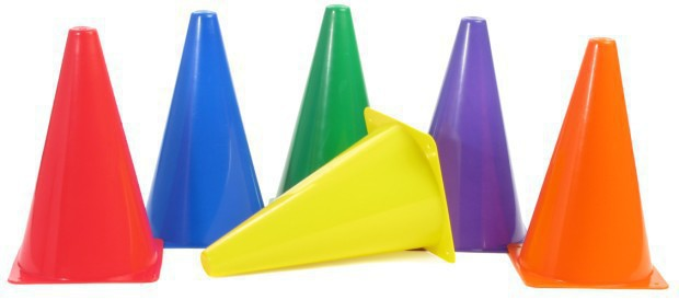 American Education Plastic Cones: 9 Inch, Purple