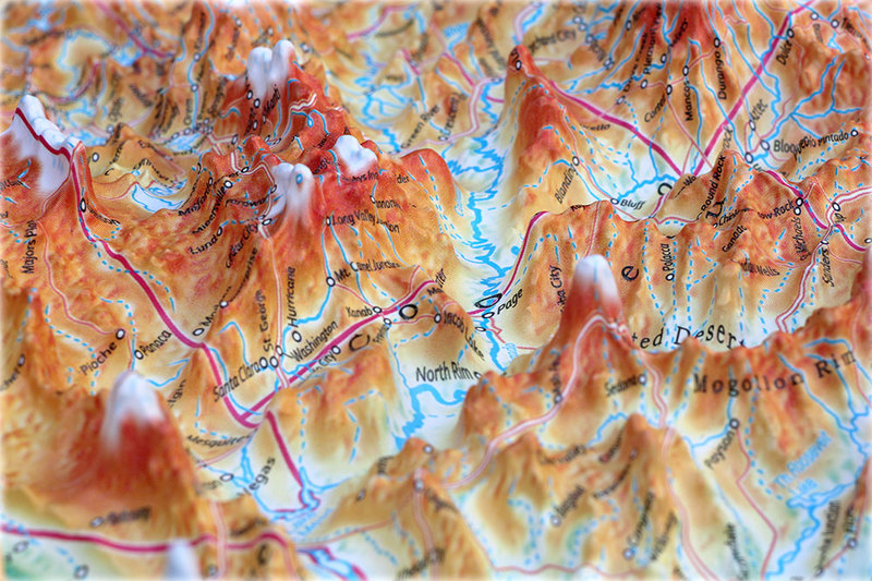United States Basic Map: 3D Maps With Panoramic Effect