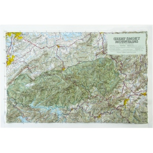 Hubbard Scientific Raised Relief Map: Great Smoky Mtn National Park