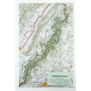 Hubbard Scientific Raised Relief Map: Shenandoah National Park