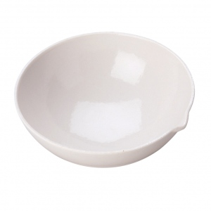 Porcelain Evaporating Dish: 98 mm Diameter x 38 mm Height x 125 ml Capacity