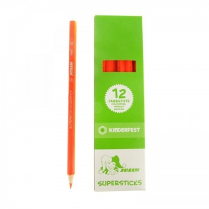American Educational Supersticks Colored Pencil Neon Orange, box of 12