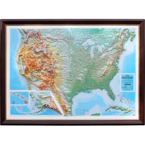 United States Basic Map D Maps With Panoramic Effect Map Of - Us map 3d
