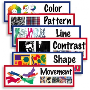 American Educational Art Display Cards-Elements & Principles