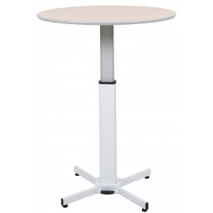 Luxor Pneumatic Adjustable Round Pedestal Table