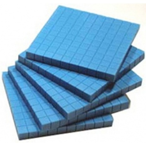 Base Ten Flats Plastic Blue 10/pk 1x10x10cm