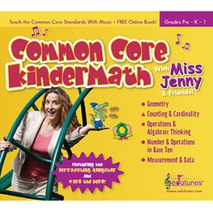 Common Core Kindermath With Miss Jenny & Friends Cd Book Set