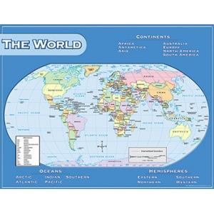 World map chart 17x22 world maps online teacher supply source world map chart 17x22 gumiabroncs Images
