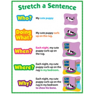 Stretch A Sentence Chart Gr 1-3 :: Learning Charts :: Decoration ...