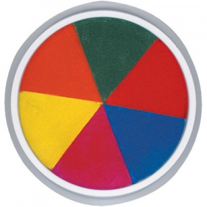 Center Enterprises Jumbo Circular Washable Paint/Ink Pad: 6""