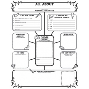 All About Me Web Graphic Organizer Posters :: Graphic Organizers ...
