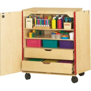 Jonti craft supply cabinet storage furniture for Storage solutions for arts and crafts