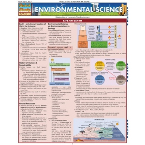 BarCharts Environmental Science Quick Study Guide - Earth ...