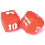 Yellowtails Cubes with Action: Fitness Dice, Set of 2